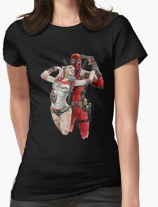 Harley Quinn & DP  Womens Fitted T-Shirt