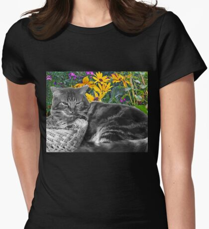 With the Flowers Womens Fitted T-Shirt