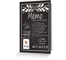 New Address Memo board Christmas card Greeting Card