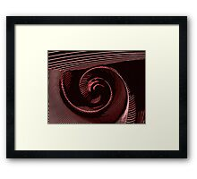 Red spiral, abstraction, visual, optical illusion Framed Print