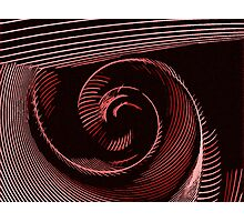 Red spiral, abstraction, visual, optical illusion Photographic Print