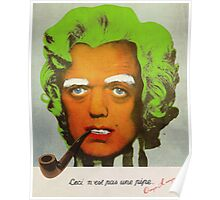 Oompa Loompa Self Portrait With Surreal Pipe Poster