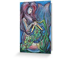 Kitting Mermaid Greeting Card