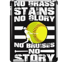 NO GRASS, NO GLORY,  NO BRUISES iPad Case/Skin