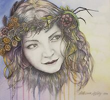 Natural Beauty - Graphite and Watercolour Portrait by Katherine Appleby