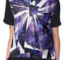 Watercolor Deep Space In Triangles Chiffon Top