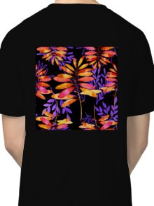 Psychedelic Fall, vibrant fall leaves nature pattern Classic T-Shirt