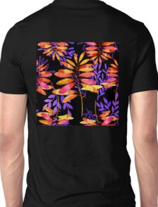 Psychedelic Fall, vibrant fall leaves nature pattern Unisex T-Shirt