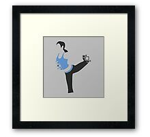 Pixel Silhouette: Wii Fit Trainer (Female) Framed Print