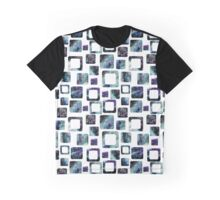 Watercolor Galaxy in Squares Graphic T-Shirt