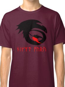 dragon training symbol with night fury written in runes. Classic T-Shirt