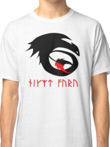 dragon training symbol with night fury written in runes. Classic T-Shirt