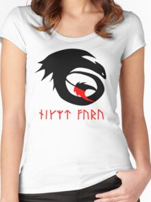 dragon training symbol with night fury written in runes. Women's Fitted Scoop T-Shirt