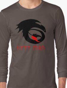 dragon training symbol with night fury written in runes. Long Sleeve T-Shirt