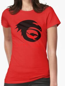dragon training symbol with night fury written in runes. Womens Fitted T-Shirt