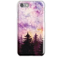 Watercolor Space And Dark Firs iPhone Case/Skin