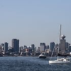 Vancouver Skyline by Marylou Badeaux