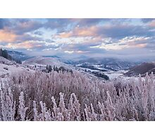 Methow Winter Sunset Photographic Print