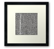 Grey Knit With White Stripe Framed Print