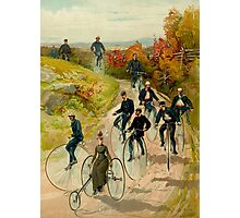 """""""BICYCLE"""" Vintage (1887) Ride in The Park Print Photographic Print"""