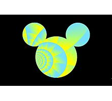 Swirly Mickey Photographic Print