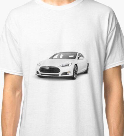 White Tesla Model S luxury electric car Classic T-Shirt