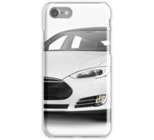 White Tesla Model S luxury electric car iPhone Case/Skin