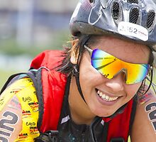 A Biker's Smile from Iron Man 70.3 - Philippines by JhaMesPhotos