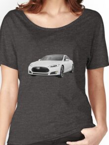 Tesla Model S electric car photo print Women's Relaxed Fit T-Shirt