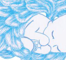 Angel Winged Baby Boy Sticker