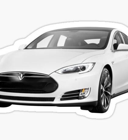 Tesla Model S electric car photo print Sticker