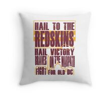 Redskins - Fight Song Throw Pillow
