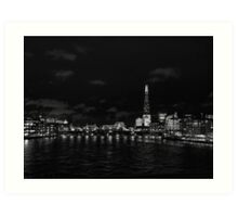 London skyline at night Art Print