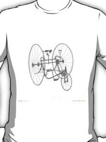 A Fancy Ride in White T-Shirt