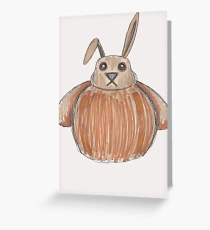 The Disgruntled Rabbit Greeting Card