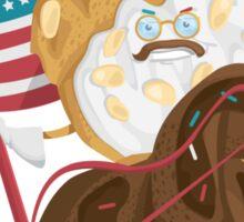 "Pastriotic - Teddy ""Bear Claw"" Roosevelt Sticker"