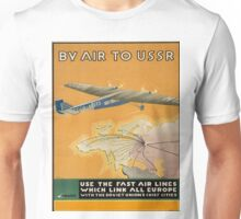 Vintage poster - By Air to USSR Unisex T-Shirt