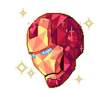 Sparkling Faceted Pixel Iron Man by fleethall