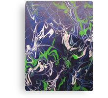 Purple Blue Green Abstract Swirl Design Canvas Print