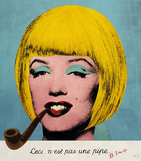 Bob Marilyn Monroe with surreal pipe by filippobassano