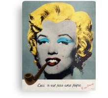 Vampire Marilyn with surreal pipe Metal Print