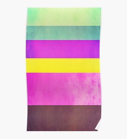 Abstraction #108 Multicolor Blocks Poster