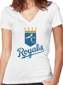 Mantis Royals Women's Fitted V-Neck T-Shirt