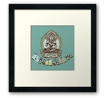 Spiritual Buddha Drawing  Framed Print