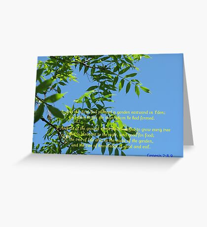 On The Seventh Day Of Creation Greeting Card