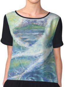 Ocean Waves Whirlpool Chiffon Top