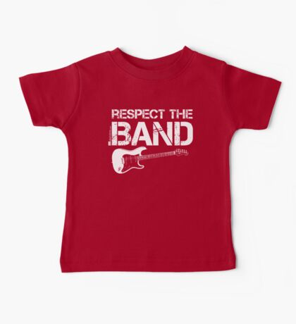 Respect The Band - Electric Guitar (White Lettering) Baby Tee