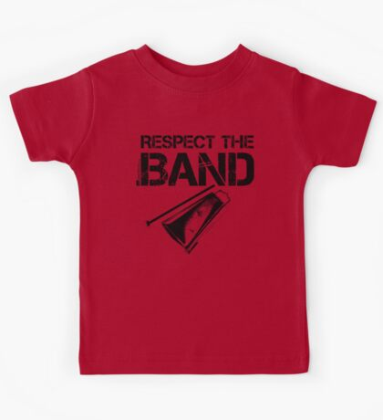 Respect The Band - Cowbell (Black Lettering) Kids Tee