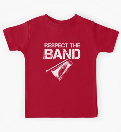 Respect The Band - Cowbell (White Lettering) Kids Tee