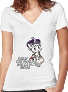 Meowriarty Women's Fitted V-Neck T-Shirt